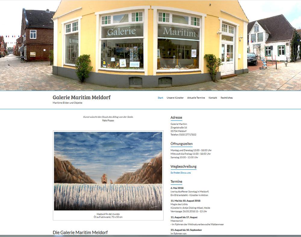 Screenshot Galerie-Maritim-Meldorf.de