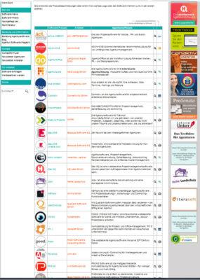 Screenshot Agentursoftware-Guide