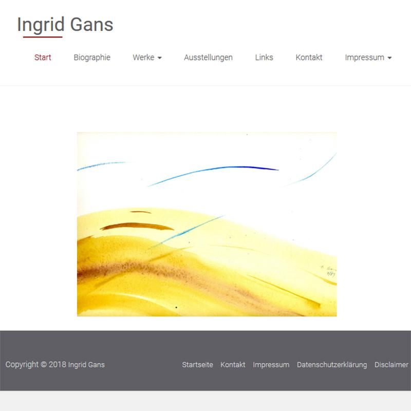 Referenzen: Ingrid Gans – Künstlerin-Webseite